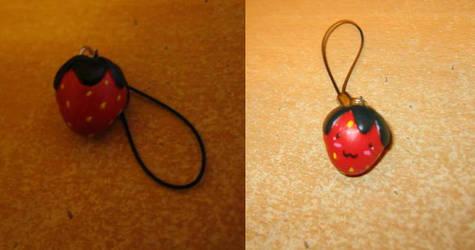 Strawberry Phone Charm by peachai