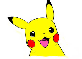 Pikachu With Color by RollMyRollsNate