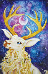 Stag of the Moon by Starrydance