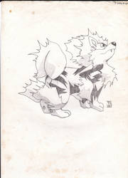 Pokemon - Arcanine Old Sketch by Balmonth