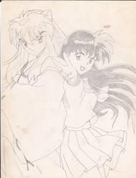 Inuyasha and Kagome by Balmonth