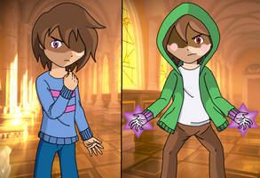 Undertale Storyshift - Shifty and Chara by PKMNTrainerSpriterC