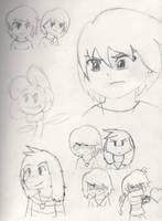 Undertale Sketch Dump by PKMNTrainerSpriterC