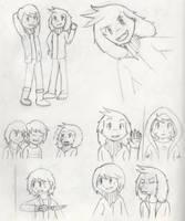 Undertale Sketch Dump 2 by PKMNTrainerSpriterC