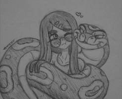 Snake Snuggles Are Always The Best~ by TheAstron