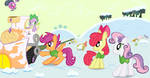 Cutie Mark Crusaders and Spike Winter Wrap Up by sallycars