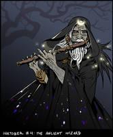 Inktober #4 - The Ancient Wizard. by UnseelieTimes