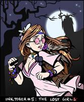 Inktober #5: The Lost Girl. by UnseelieTimes