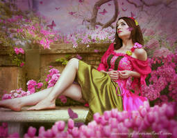 Pink and Green Fairy by annewipf