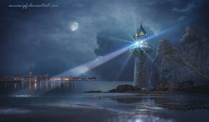 Night Harbor by annewipf