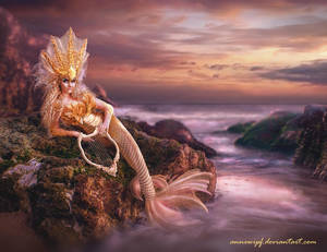 Sunset Mermaid - Pink version by annewipf