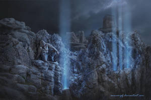 Blue Light Rays by annewipf