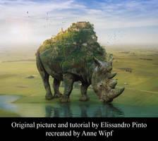 Rhino by annewipf