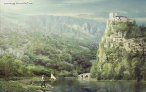 Medieval Landscape by annewipf