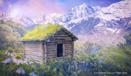 The Small House with a grass roof by annewipf