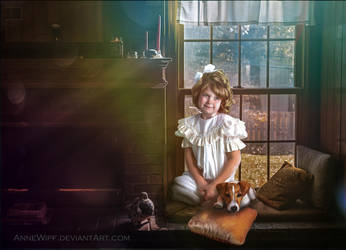 Little Girl and Dog by annewipf