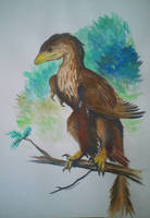 Sinornithosaurus by Azraelangelo