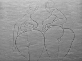Satsuki vs Revy sketch by DoomBerry83
