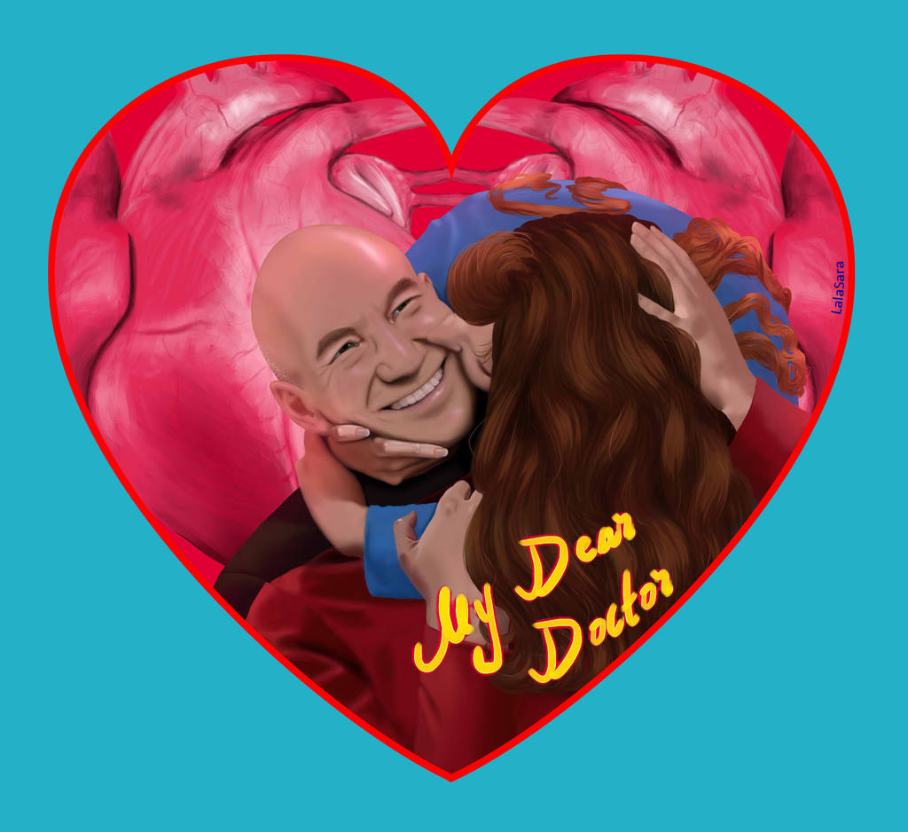 Jean-Luc Picard and Beverly Crusher (Star Trek: The Next Generation)