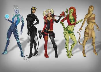 DC Bad Girls by CyanSoul