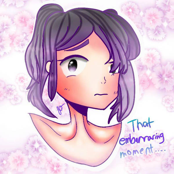 Embarrassing moment by WomhannahDraws917