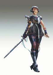 lady knight by hubbleTea