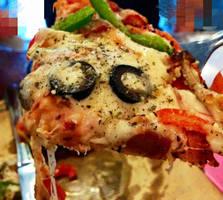 vegan pizza close up by VEGAN-LOVE