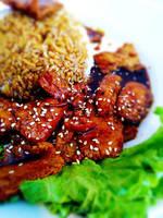 Marmite KongPao Tofu Rice by VEGAN-LOVE