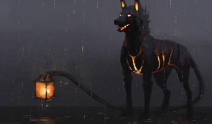 Lantern Dog by JadeMerien