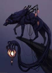Lantern Wolf by JadeMerien