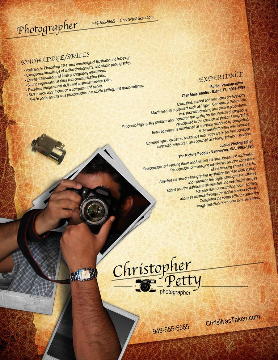 Resume - Photographer by rkaponm