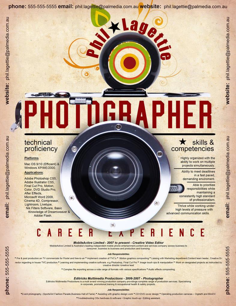 Resume - Photographer 2 by rkaponm