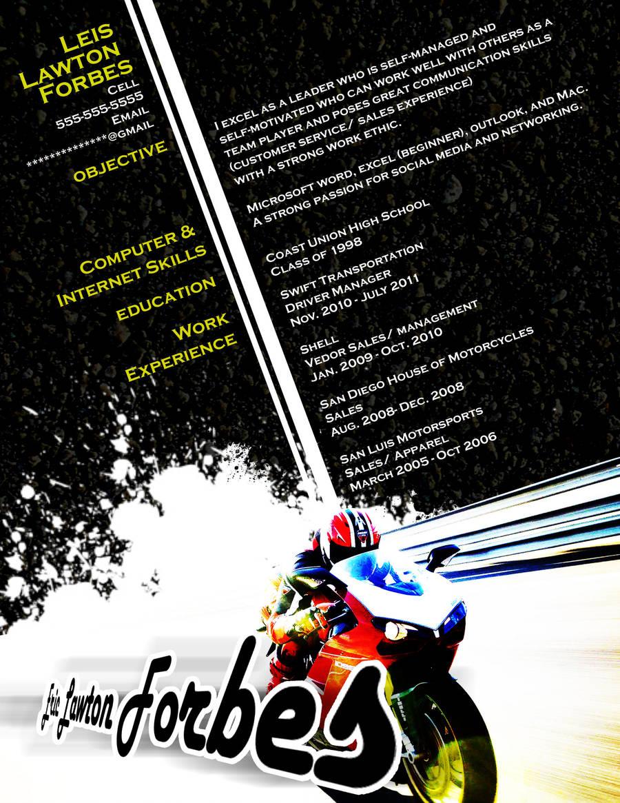 Resume - Motorcycle by rkaponm