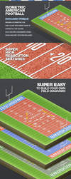 Isometric American Football Illustration by ramijames