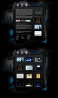 Grunge portfolio website by Staticx99