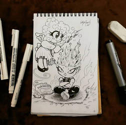 Inktober Day 03 Roasting by lady-storykeeper