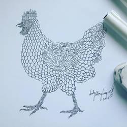 Inktober Day 05 Chicken by lady-storykeeper