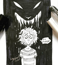 Inktober Day 06 Drooling by lady-storykeeper