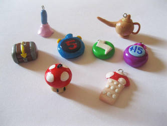 Polymer clay Mario party 3 items by thedaughterofalec