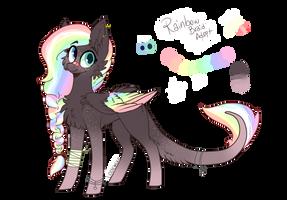 Rainbow Braid Pony Adopt Auction CLOSED by AkiiiChaos