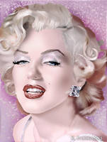 Marilyn Monroe Portrait (Digital Painting) by eyeqandy