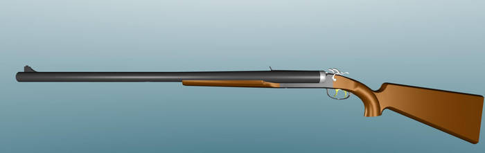 Double Barrel Coach Gun with visible hammers by Warkom