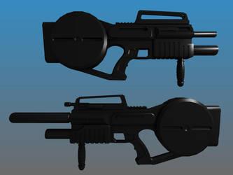 ZHL-u1953 WIP Deus Ex Assault Rifle by Warkom