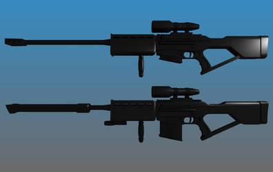 Deus Ex Sniper Rifle WIP by Warkom