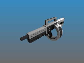 Deus Ex Assault Shotgun WIP AKA (Street Sweeper) by Warkom