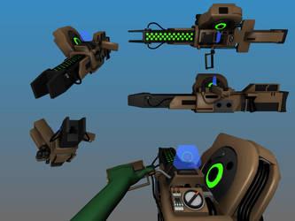 Deus Ex MJ12 Plasma Rifle by Warkom