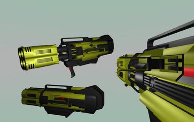 Flechette Cannon Hyper Quad Shotgun WIP by Warkom