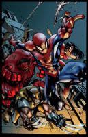 [Battle Artist] Avenging SpiderMan by NimeshMorarji