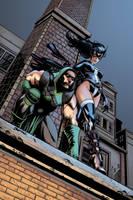 Arrow and Huntress by NimeshMorarji