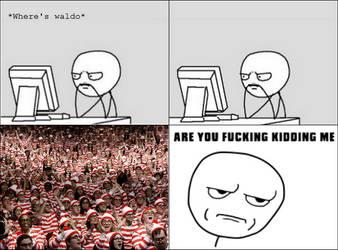 Waldo rage by YoBadMama